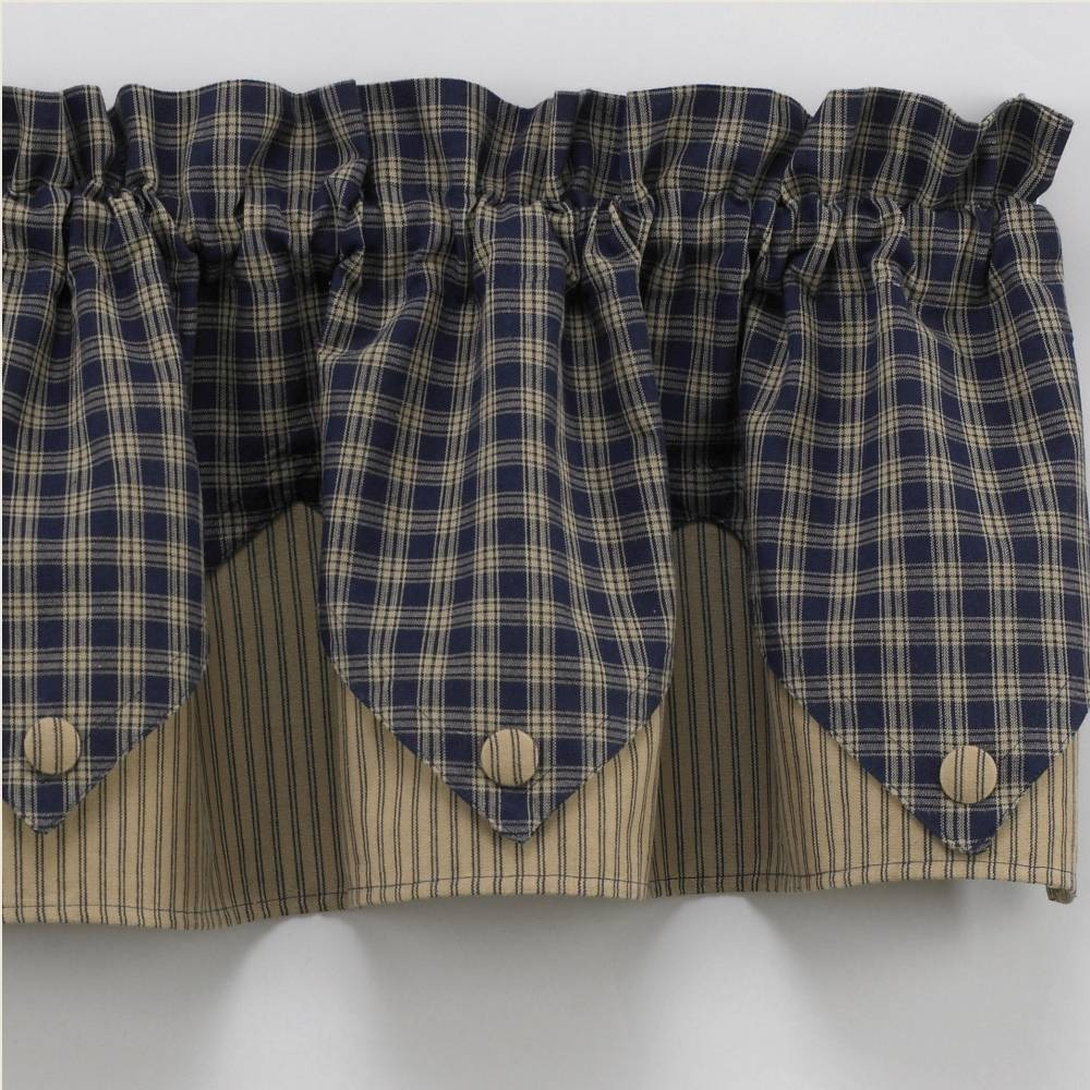 Navy Blue Valance Queen