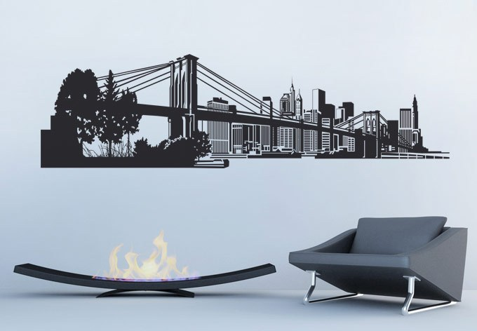 New York Skyline Wall Decals