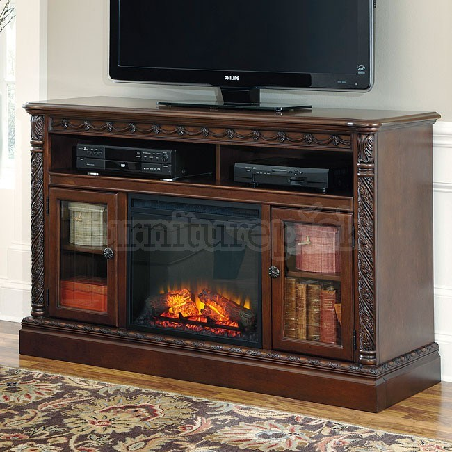 North Shore Tv Stand With Fireplace