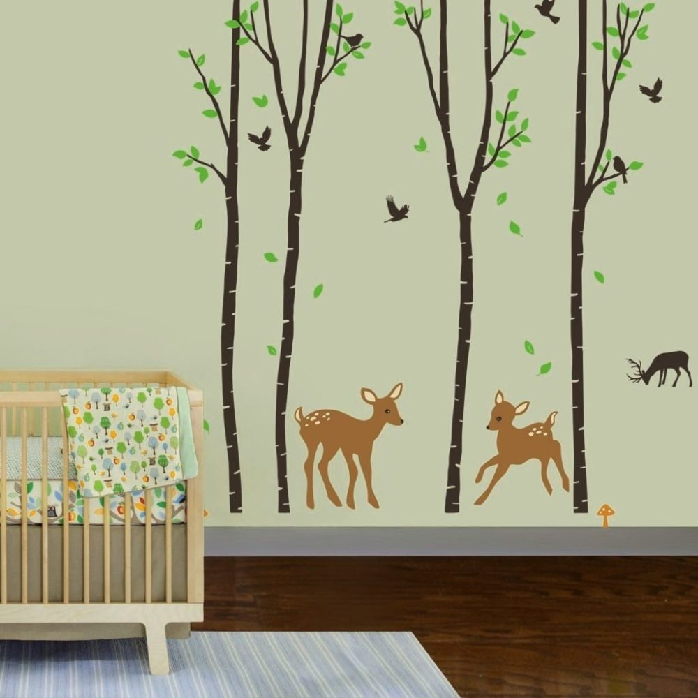 Nursery Wall Decals Birch Trees