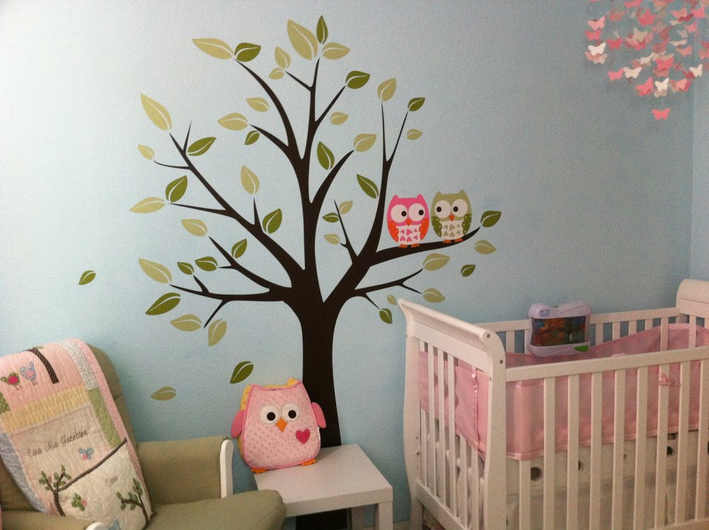 Nursery Wall Decals Owls