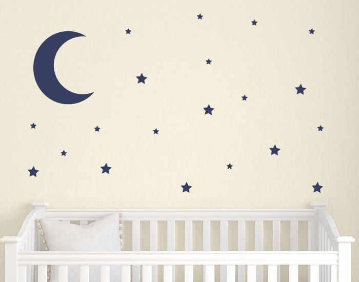 Nursery Wall Decals Stars Moon