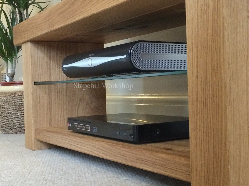 Oak And Glass Tv Stand