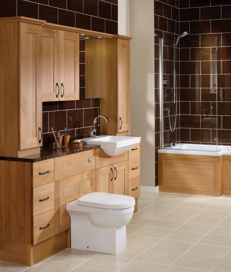 Oak Bathroom Cabinets Uk