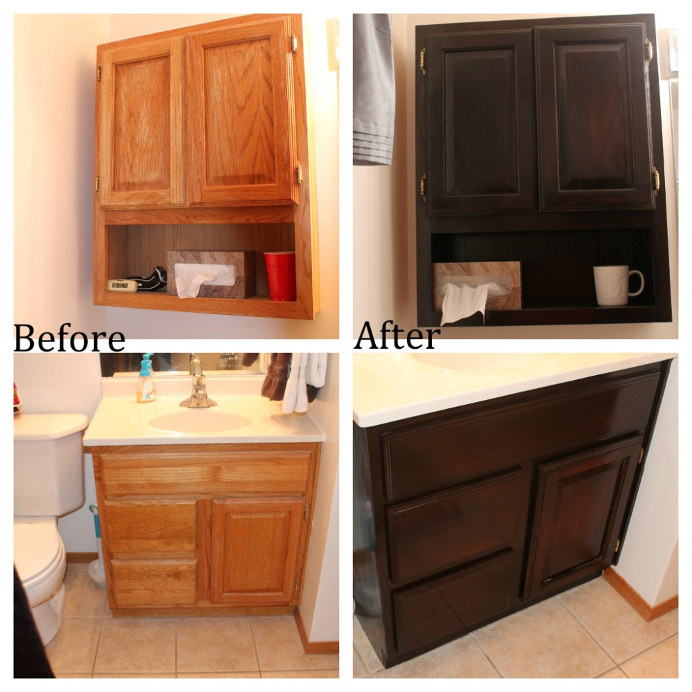 Oak Bathroom Cabinets