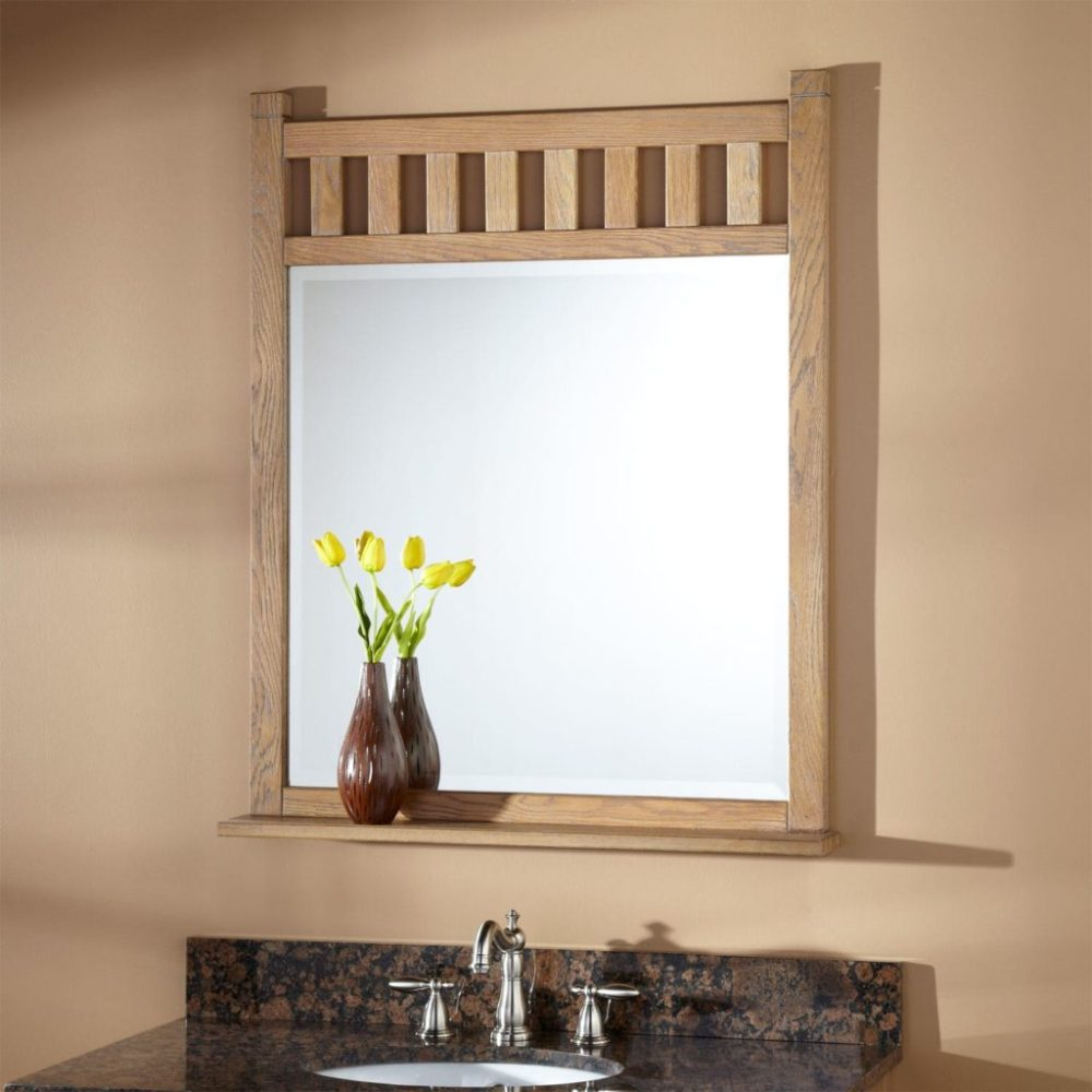 Oak Bathroom Mirror With Lights
