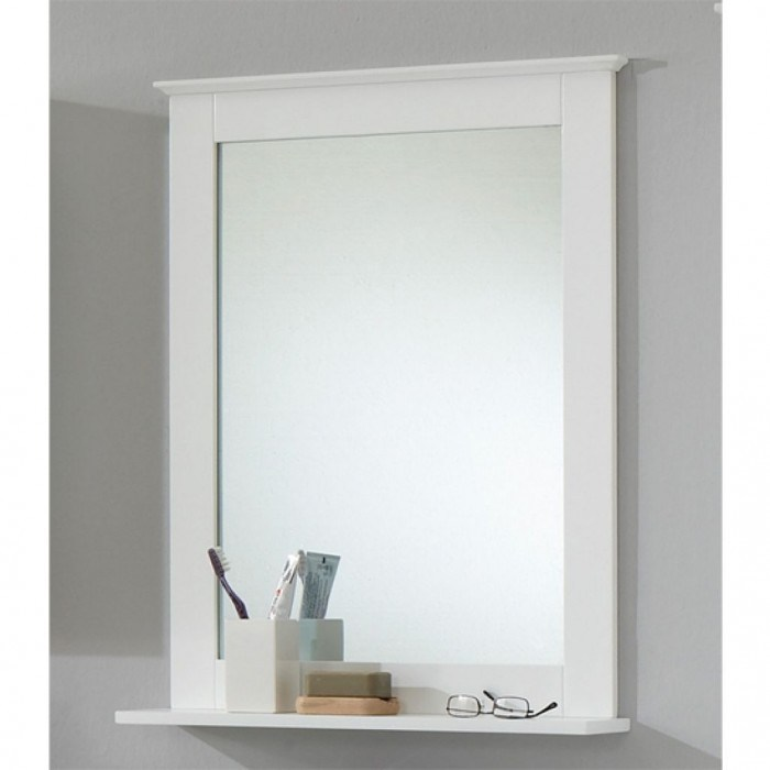 Oak Bathroom Mirror With Shelf
