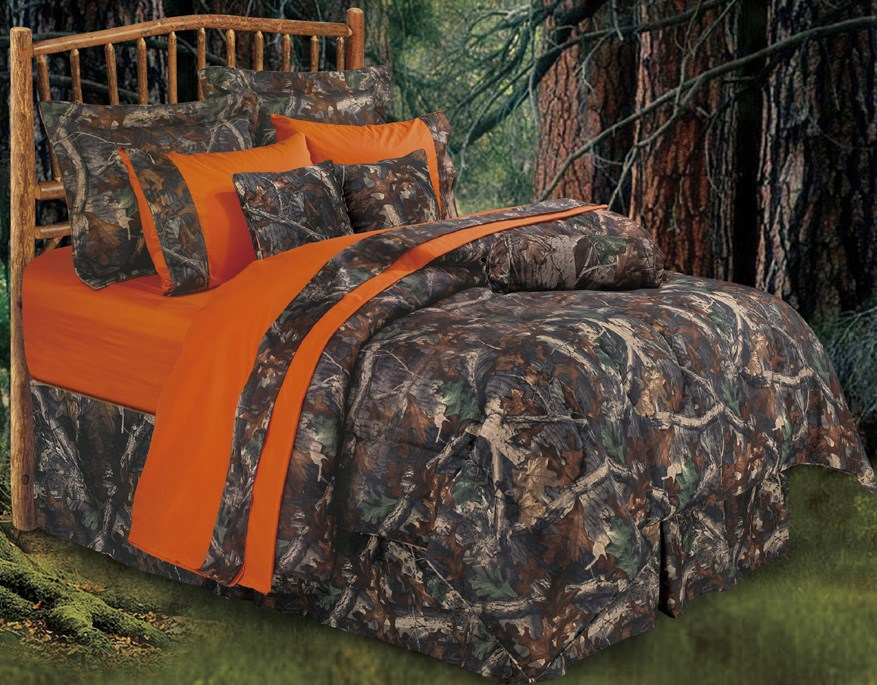 Oak Camo Comforter Set Full
