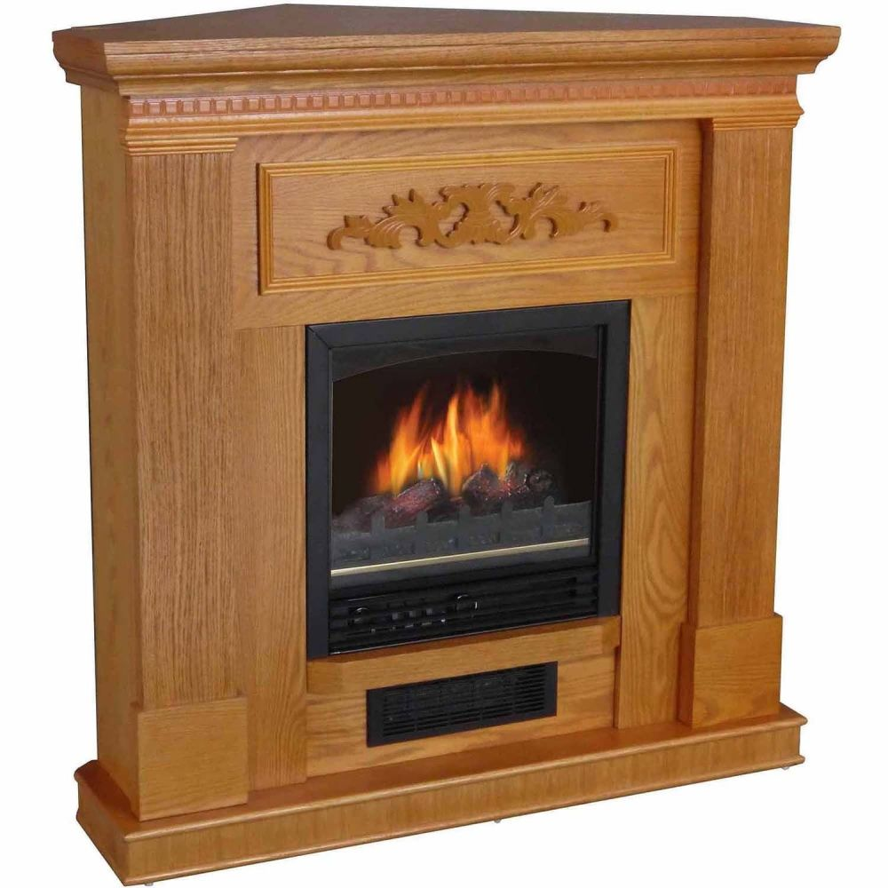 Oak Electric Fireplace Tv Stand