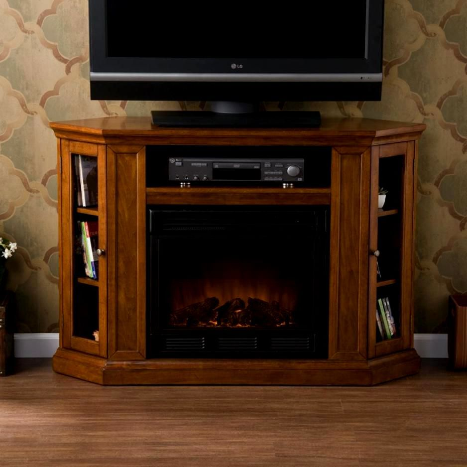 Oak Tv Stand With Fireplace