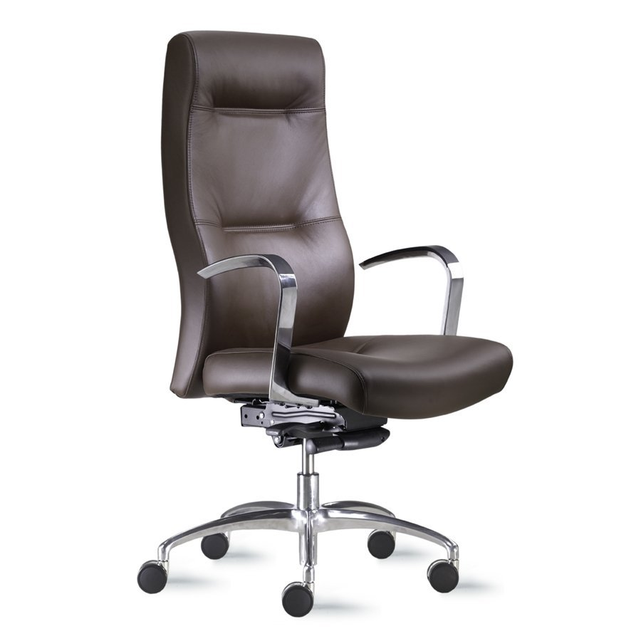Office Chair Leather High Back