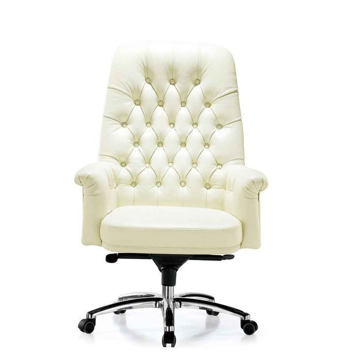 Office Chair White Leather