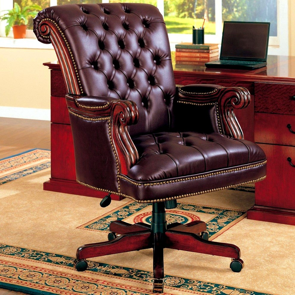 Office Chairs Leather Brown