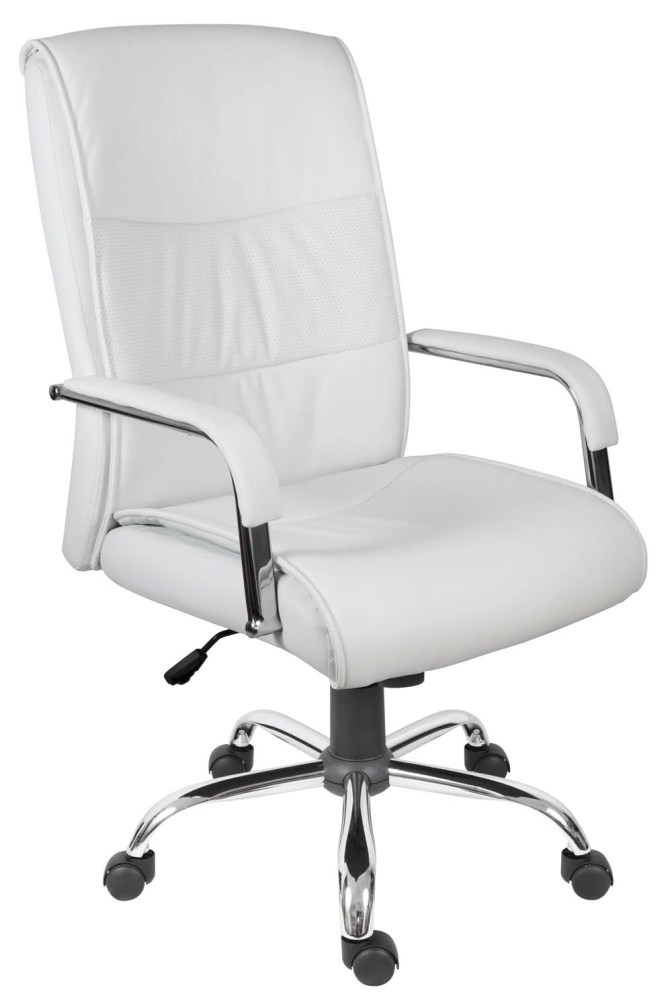 Office Chairs White Leather