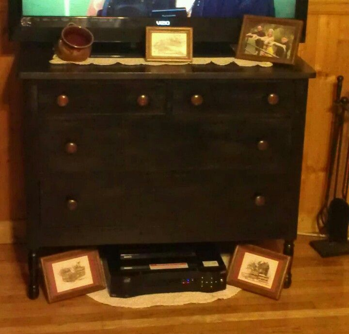 Old Dresser As Tv Stand