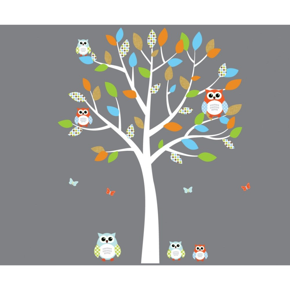 Orange And Blue Wall Decals