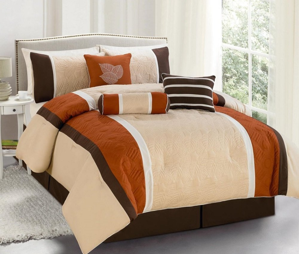 Orange And Brown Comforter Set