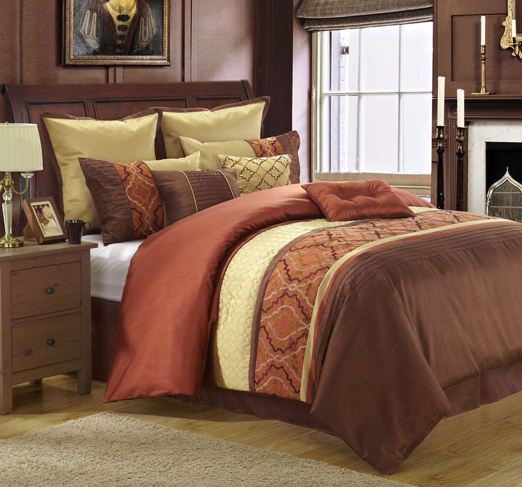 Orange And Brown Comforter Sets