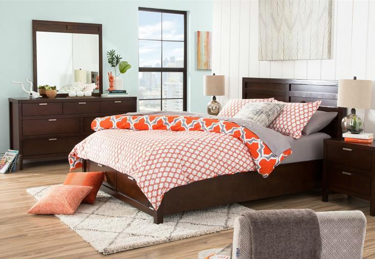 Orange And Gray Comforter Set