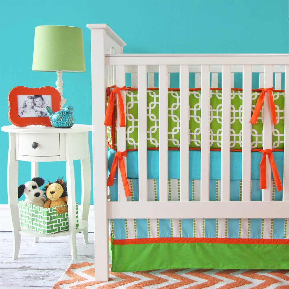 Orange And Green Comforter Sets