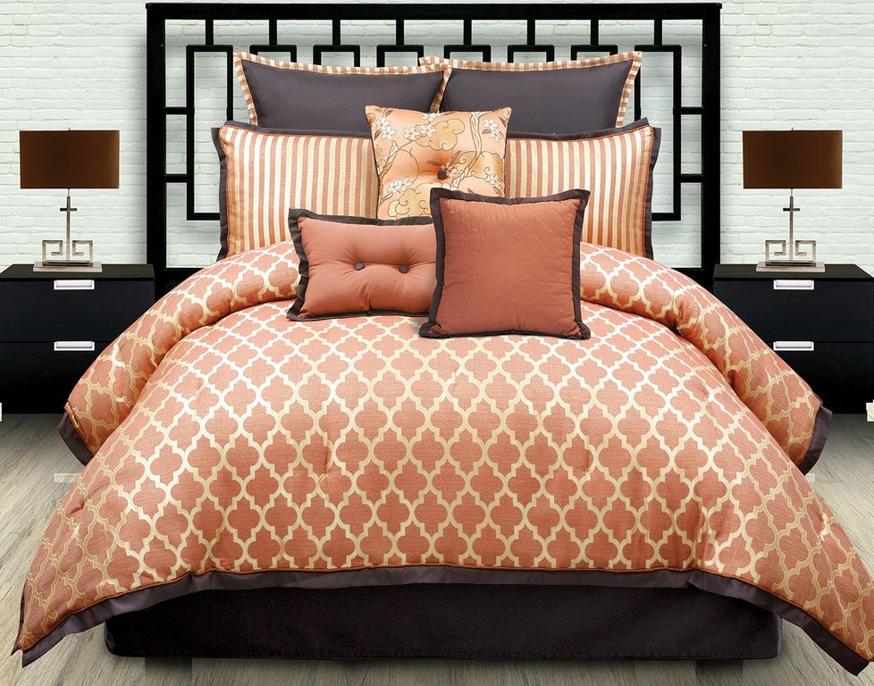 Orange Comforter Set Queen
