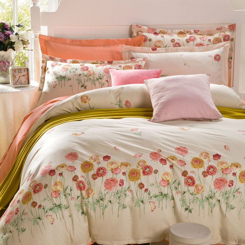 Orange Comforter Sets Queen