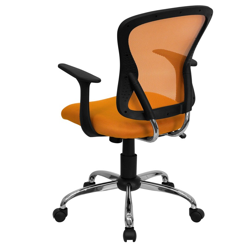 Orange Mesh Office Chair