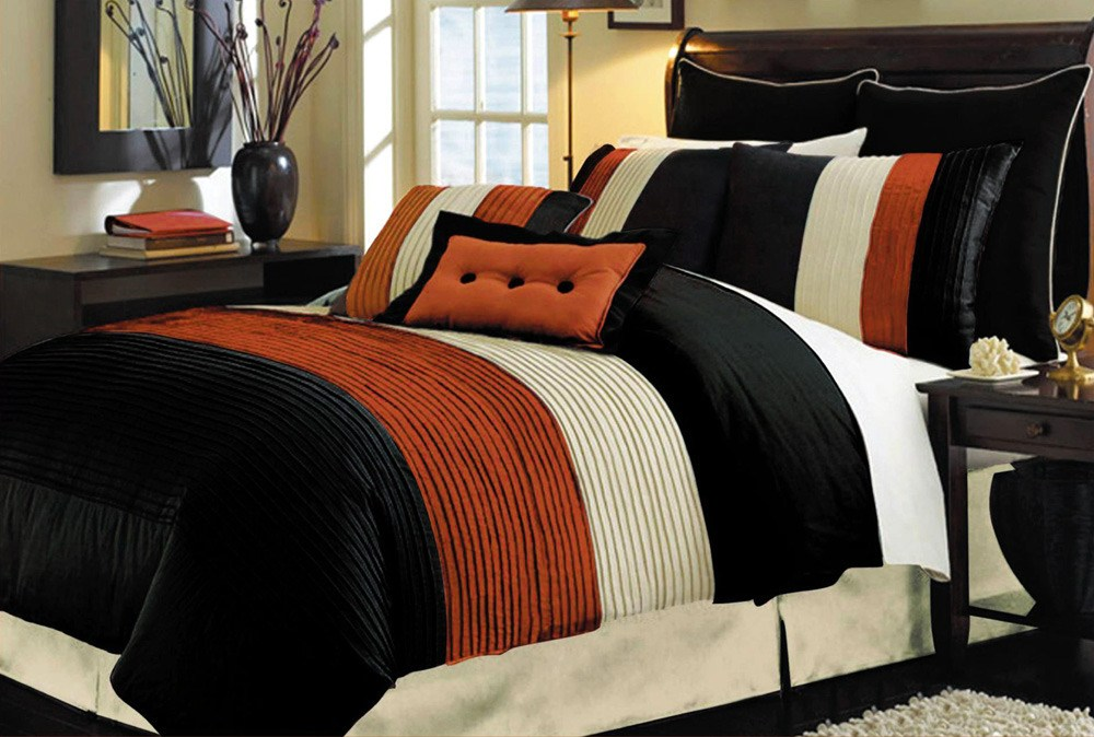 Orange Queen Comforter Set