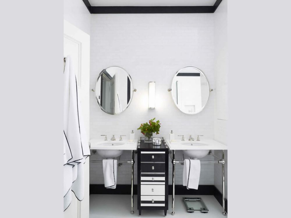 Oval Mirrors Bathroom