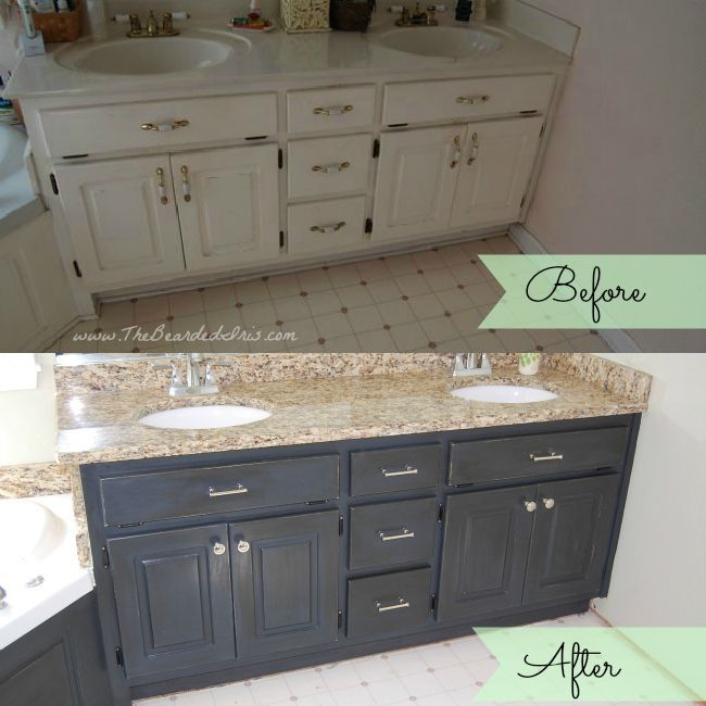 Paint Bathroom Cabinets Before And After