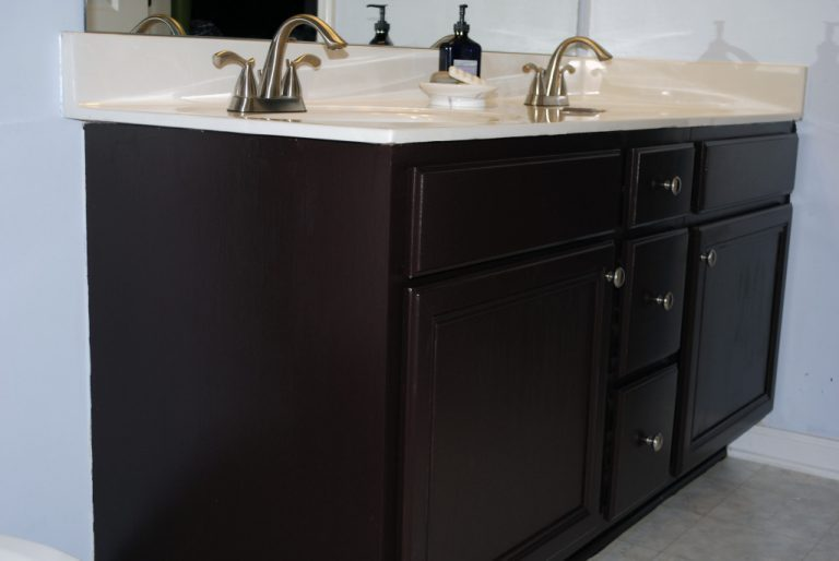 Paint Bathroom Cabinets Black