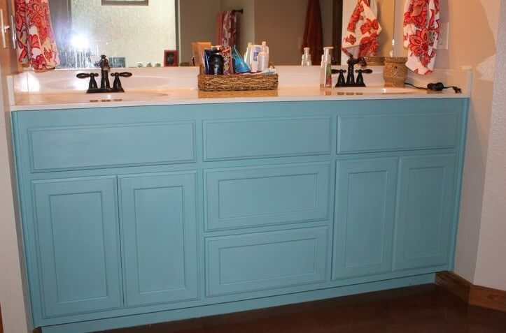 Painted Bathroom Cabinets Before And After
