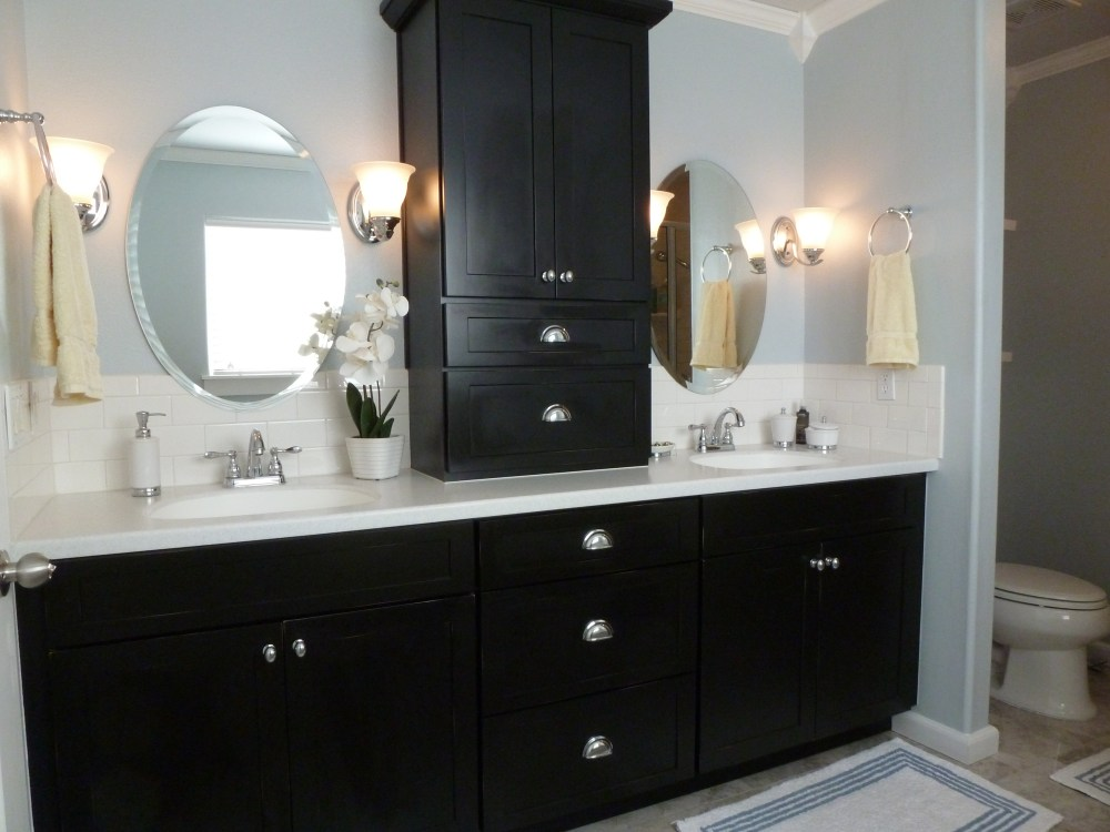 Painted Black Bathroom Cabinets