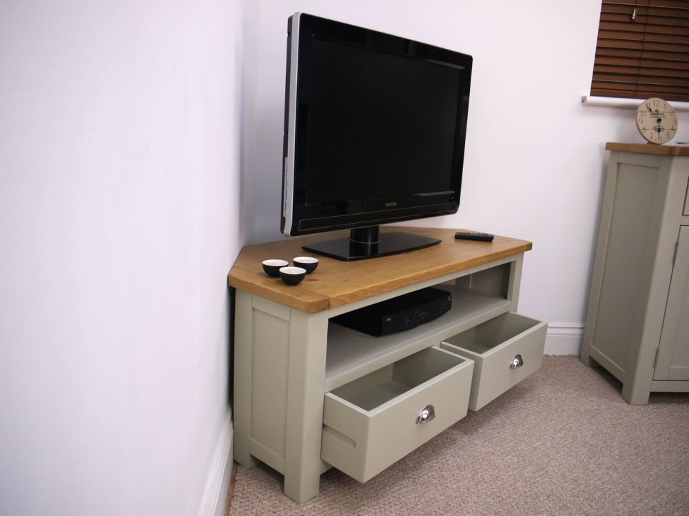 Painted Corner Tv Stand