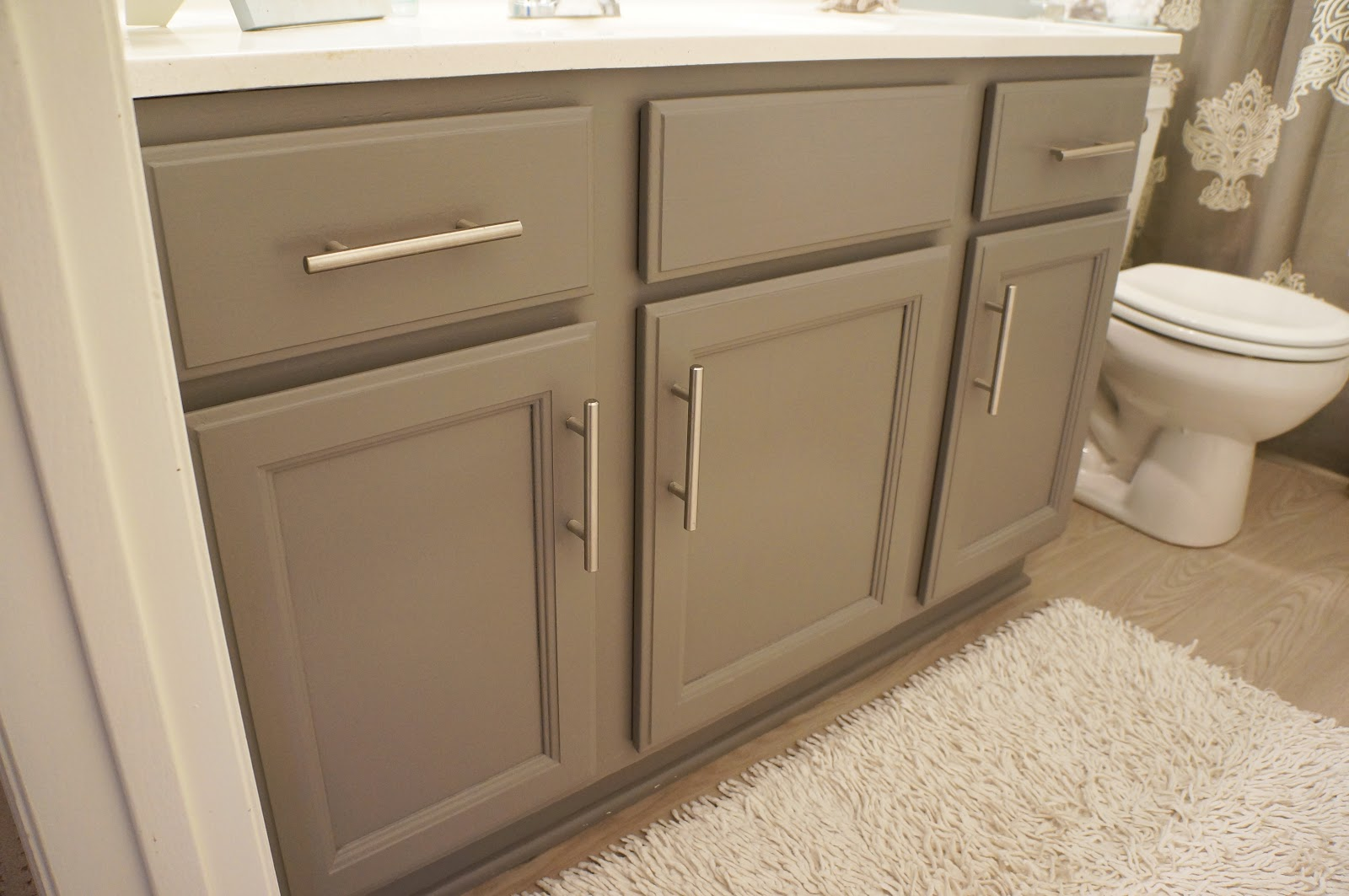 Painted Grey Bathroom Cabinets