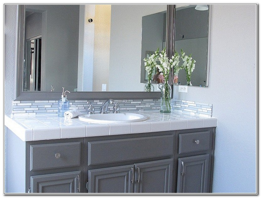 Painting Bathroom Cabinets Grey