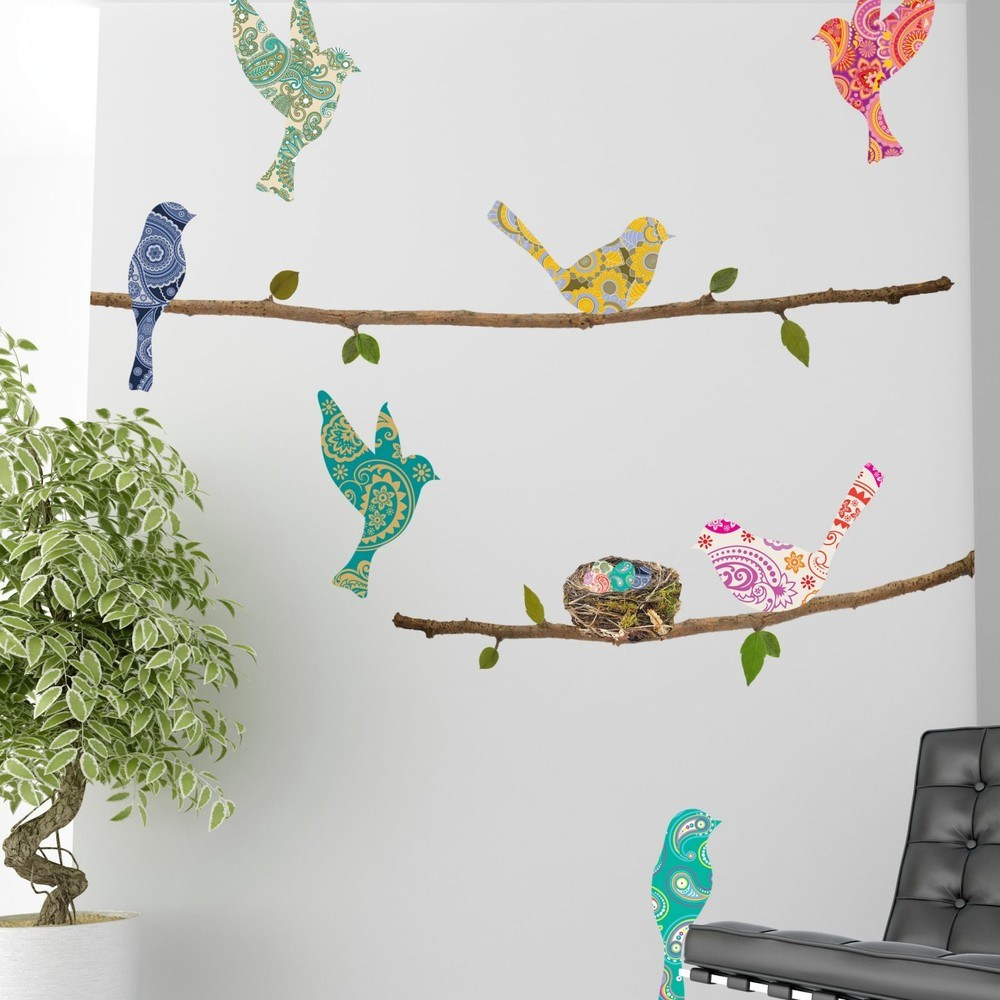 Paisley Birds Wall Decal