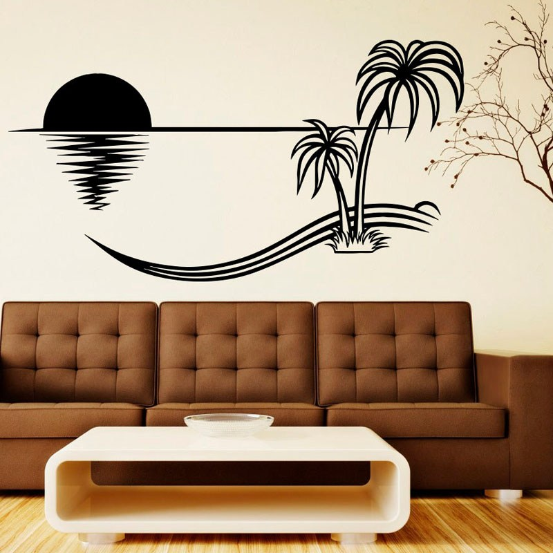 Palm Tree Vinyl Wall Decals