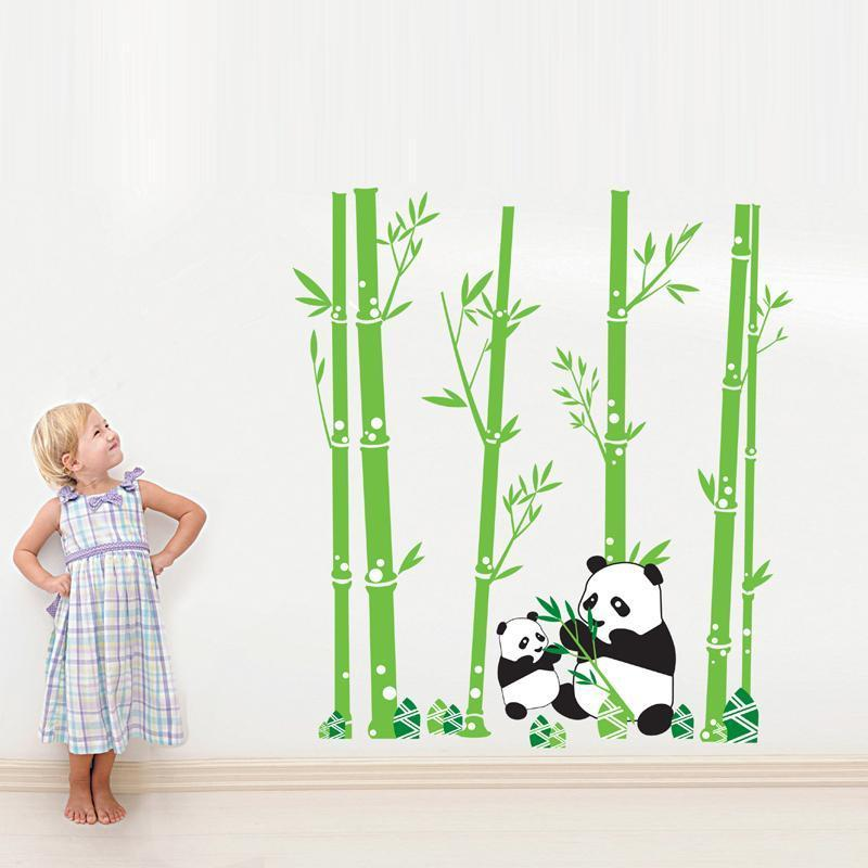 Panda Bamboo Wall Decals