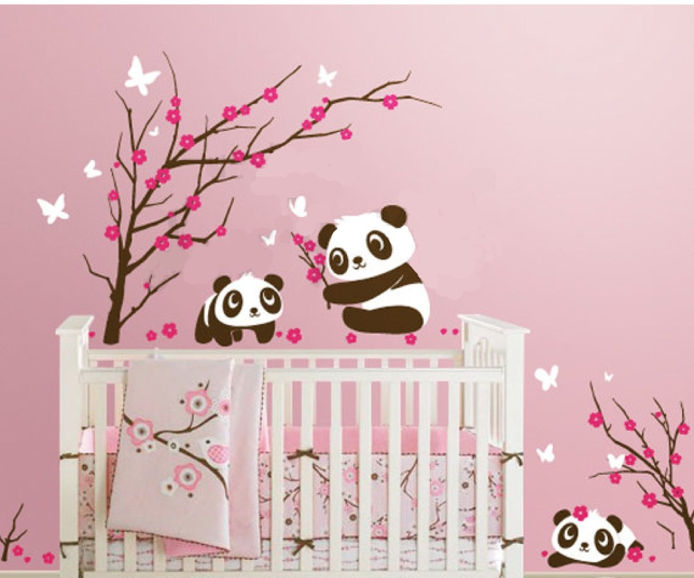 Panda Nursery Wall Decals