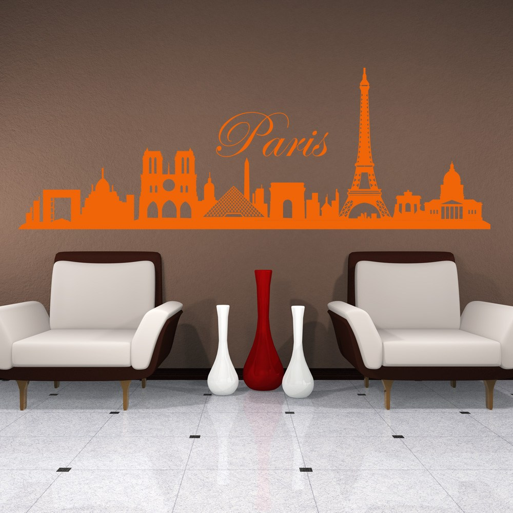 Paris Cityscape Wall Decal