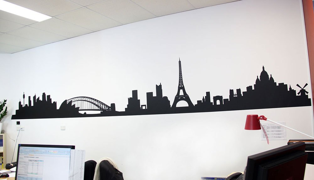 Paris Skyline Wall Decal