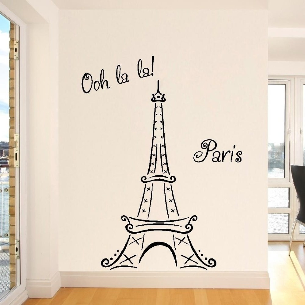 Paris Themed Wall Decals