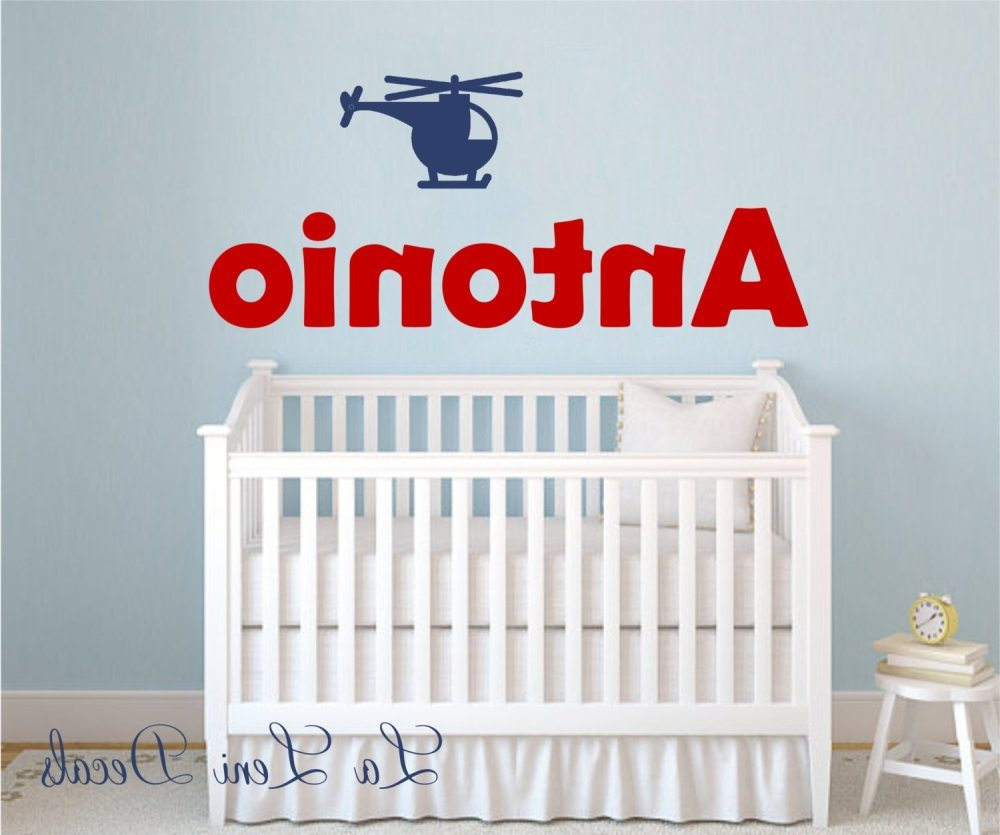 Personalized Name Wall Decals For Nursery
