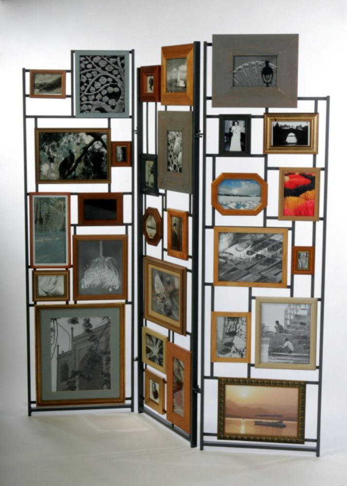 Picture Frame Room Divider 3 Panel Screen
