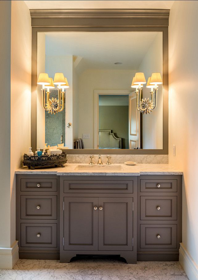 Pictures Of Bathroom Vanities With Mirrors