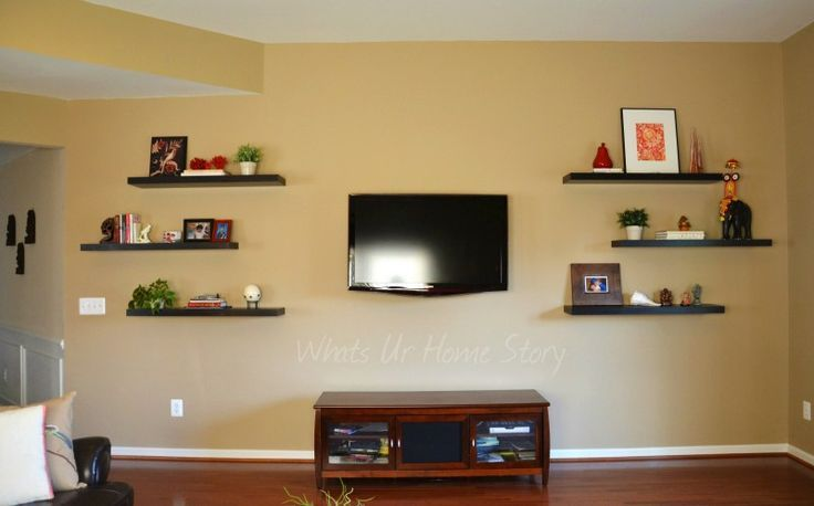 Pictures Of Floating Shelves Around Tv