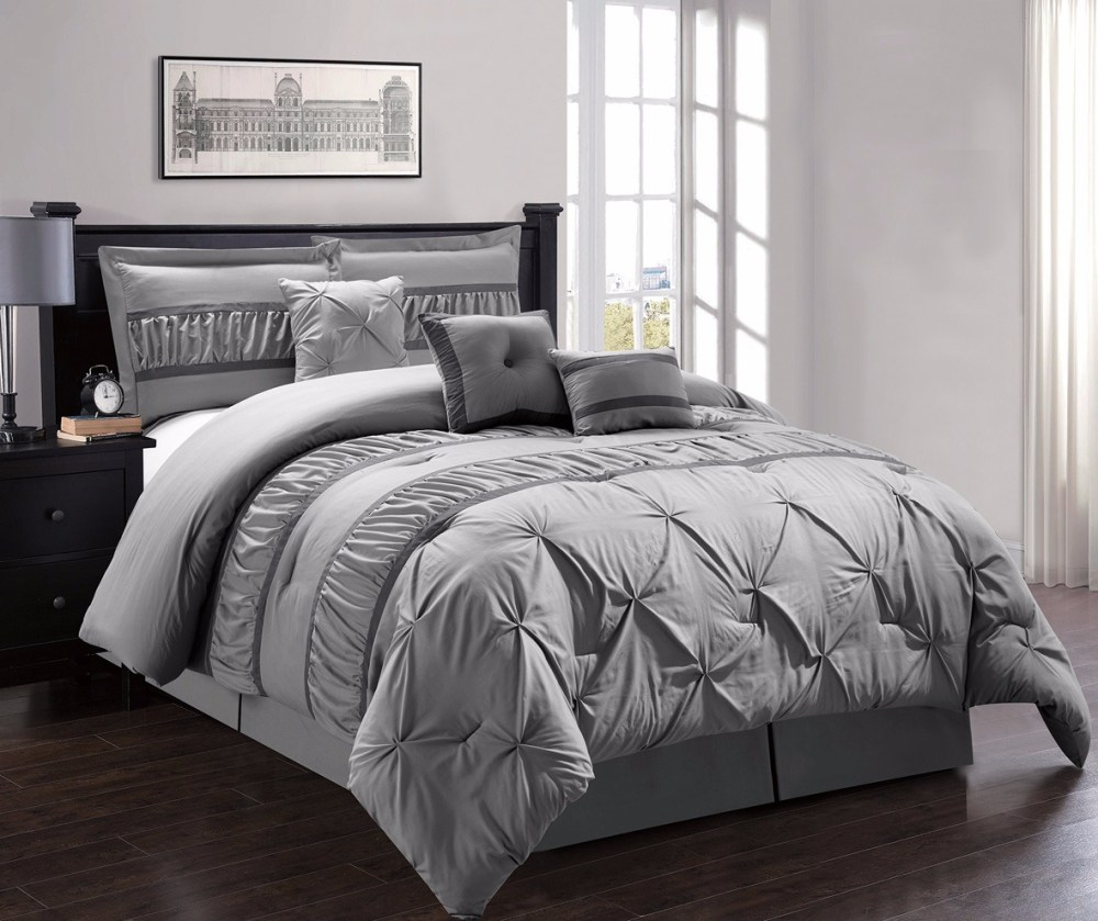 Pinch Pleat Comforter Set Twin