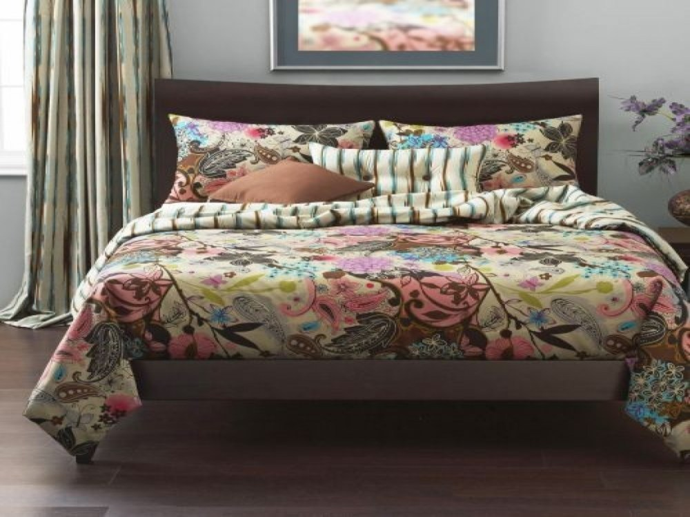 Pink And Brown Comforter Sets Queen