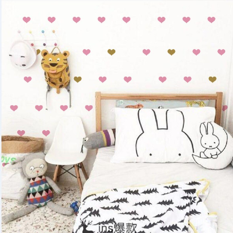 Pink And Gold Wall Decals